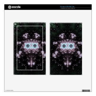 Aztec Face Fractal Design Kindle Fire Skin