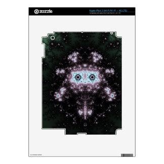 Aztec Face Fractal Design Skins For iPad 3
