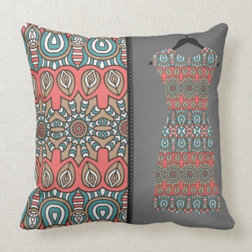 Aztec Fashion Reversible Decorative Pillow