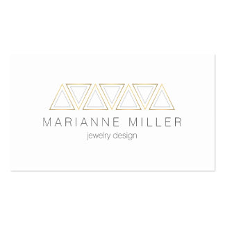 Aztec Faux Gold Triangles Designer Business Card Pack Of Standard Business Cards