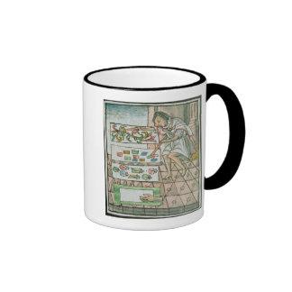 Aztec feather artisan ringer mug