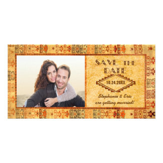 Aztec Fiesta Engagement Picture Save the Date Card