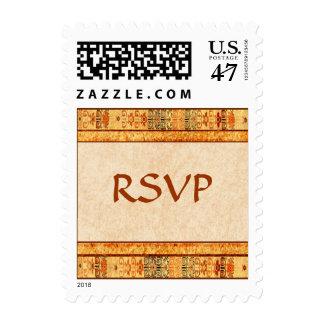 Aztec Fiesta  RSVP Postage Stamp