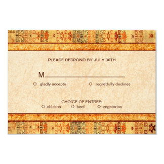 Aztec Fiesta Wedding Set RSVP Card