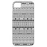 Aztec Geometric Black  pattern on White iPhone SE/5/5s Case