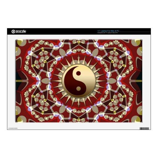 Aztec Geometric Golden Yin Yang Laptop Skin