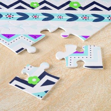 Aztec Themed Aztec Girl Jigsaw Puzzle