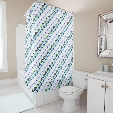 Aztec Themed Aztec Girl Shower Curtain