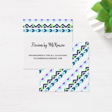 Aztec Themed Aztec Girl Square Business Card