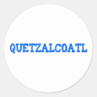Aztec God aztec god Quetzalcoatl Classic Round Sticker