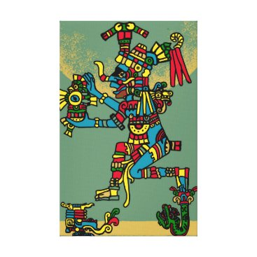 Aztec Themed Aztec God Canvas Print