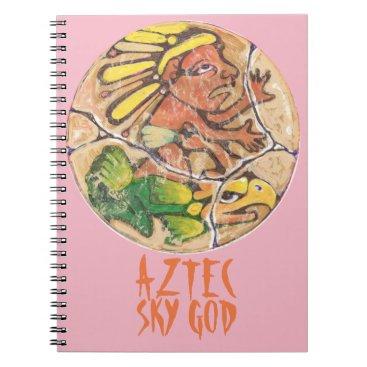 Aztec Themed Aztec god colour - Amazing Mexico Notebook