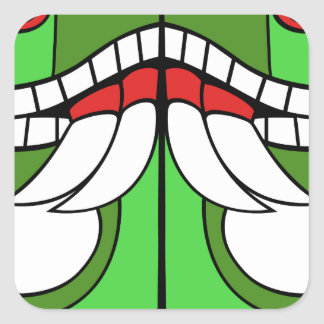 Aztec God of Earth Square Sticker
