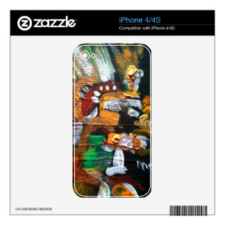 Aztec God of Stars Decals For iPhone 4