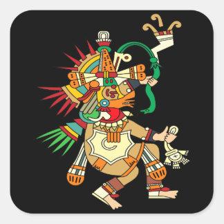 Aztec God Quetzalcoatl Square Sticker