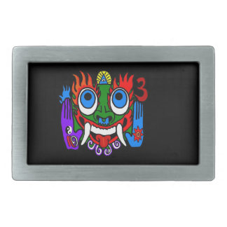 Aztec God With Black Background Belt Buckle