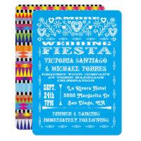 Aztec Graphic Mexican Wedding Papel Picado invites