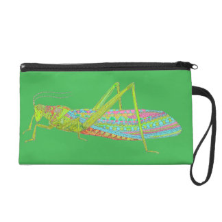 Aztec Grasshopper Wristlet