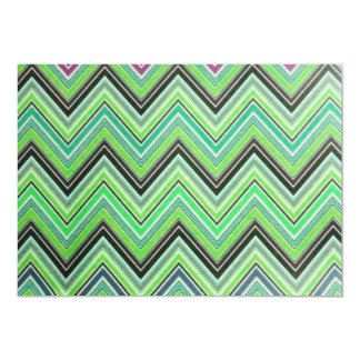 Aztec Green Purple Black Chevron Girly Pattern Card