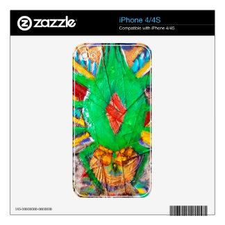 Aztec Green Spider Queen Decal For iPhone 4S