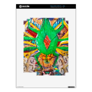 Aztec Green Spider Queen Decals For iPad 2
