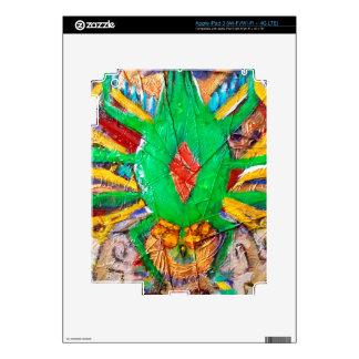 Aztec Green Spider Queen iPad 3 Decals