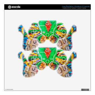Aztec Green Spider Queen Skin For PS3 Controller