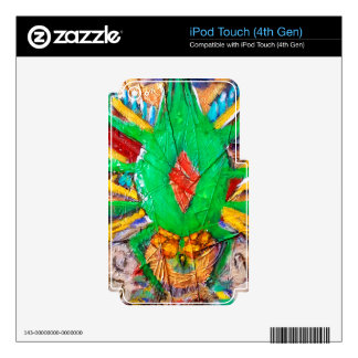 Aztec Green Spider Queen Skins For iPod Touch 4G