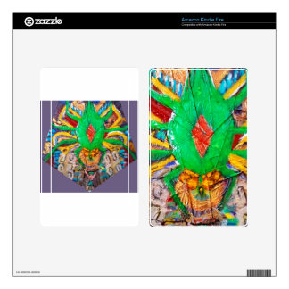 Aztec Green Spider Queen Skins For Kindle Fire
