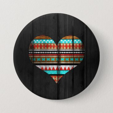 Aztec Themed Aztec heart button