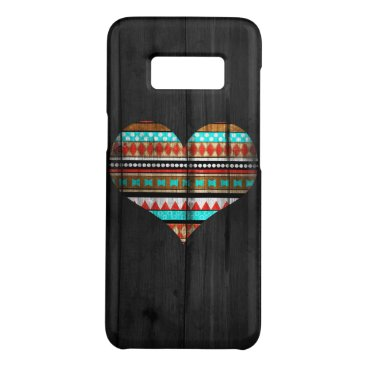 Aztec Themed Aztec heart Case-Mate samsung galaxy s8 case