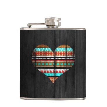 Aztec Themed Aztec heart flask