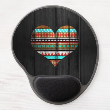 Aztec Themed Aztec heart gel mouse pad