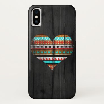 Aztec Themed Aztec heart iPhone x case
