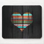 Aztec heart mouse pad