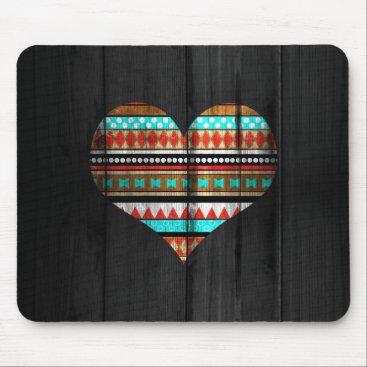 Aztec Themed Aztec heart mouse pad