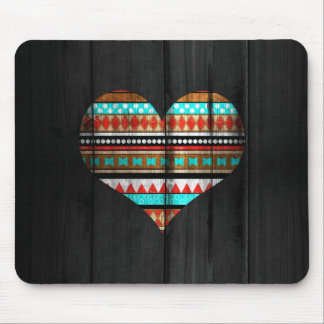 Aztec heart mouse pad