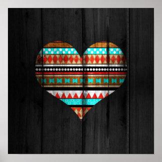Aztec heart poster