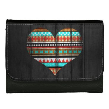 Aztec Themed Aztec heart women's wallets