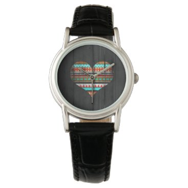 Aztec Themed Aztec heart wrist watch