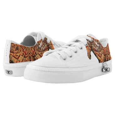 Aztec Themed Aztec Horse Low-Top Sneakers