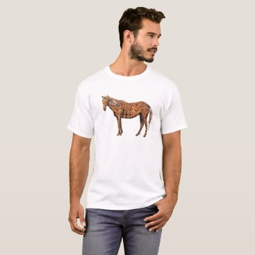 Aztec Themed Aztec horse T-Shirt