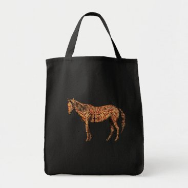 Aztec Themed Aztec Horse Tote Bag