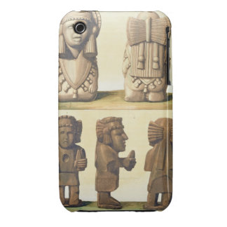 Aztec Idols, Mexico (colour lithograph) iPhone 3 Case-Mate Case
