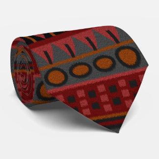 Aztec Inca Mayan Pre-columbian America Rug Theme Neck Tie