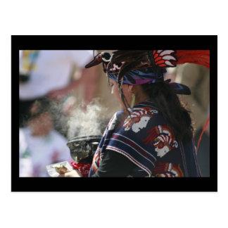 Aztec Incense Blessings Postcard