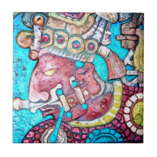 Aztec Indian Mayan temple High Priest relief Tile