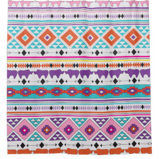 Aztec Indian Native Tribal pattern Shower Curtain