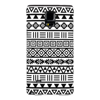Aztec Influence Pattern Black on White Galaxy Note 4 Case