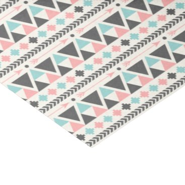 Aztec Themed Aztec Inspired Coral and Mint Pattern Tissue Paper